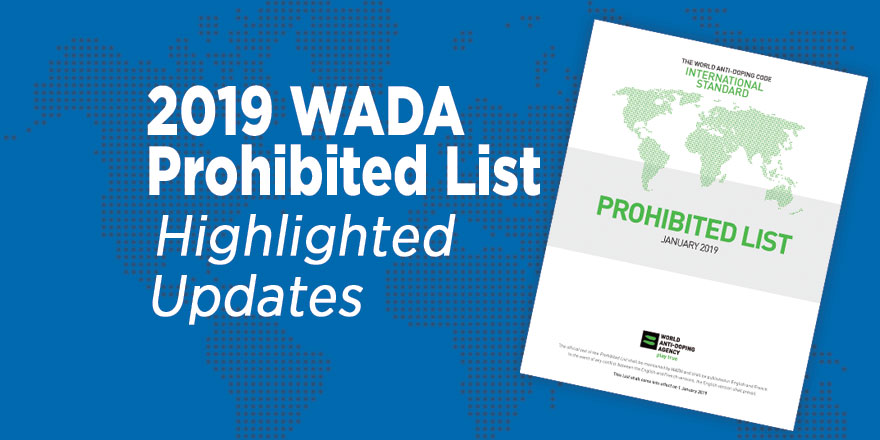 WADA Prohibited List Highlighted Updates