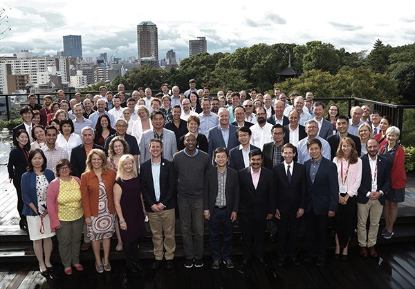 Group photo of attendees of the 2019 Science Symposium in Japan.