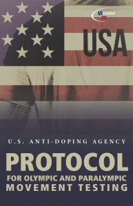 Cover of the USADA 2019 Protocol.