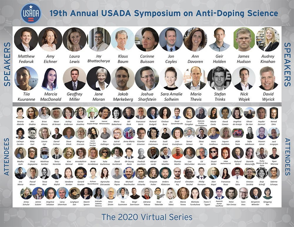 2020 Virtual Science Symposium attendees group images.