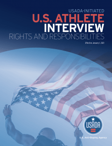 Cover of USADA-Led Athlete Interview Rights and Responsibilities.