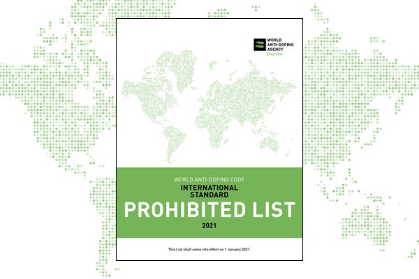 Cover image of the 2021 WADA Prohibited List.