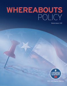 Cover of USADA's Whereabouts Policy