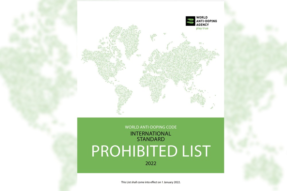 Cover image of the 2022 World Anti-Doping Agency Prohibited List.