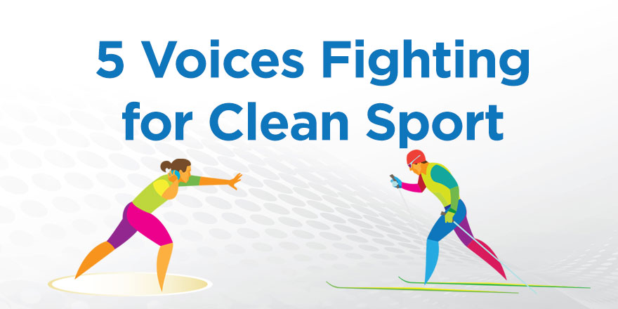 5 voices fighting for clean sport with a thrower and skier