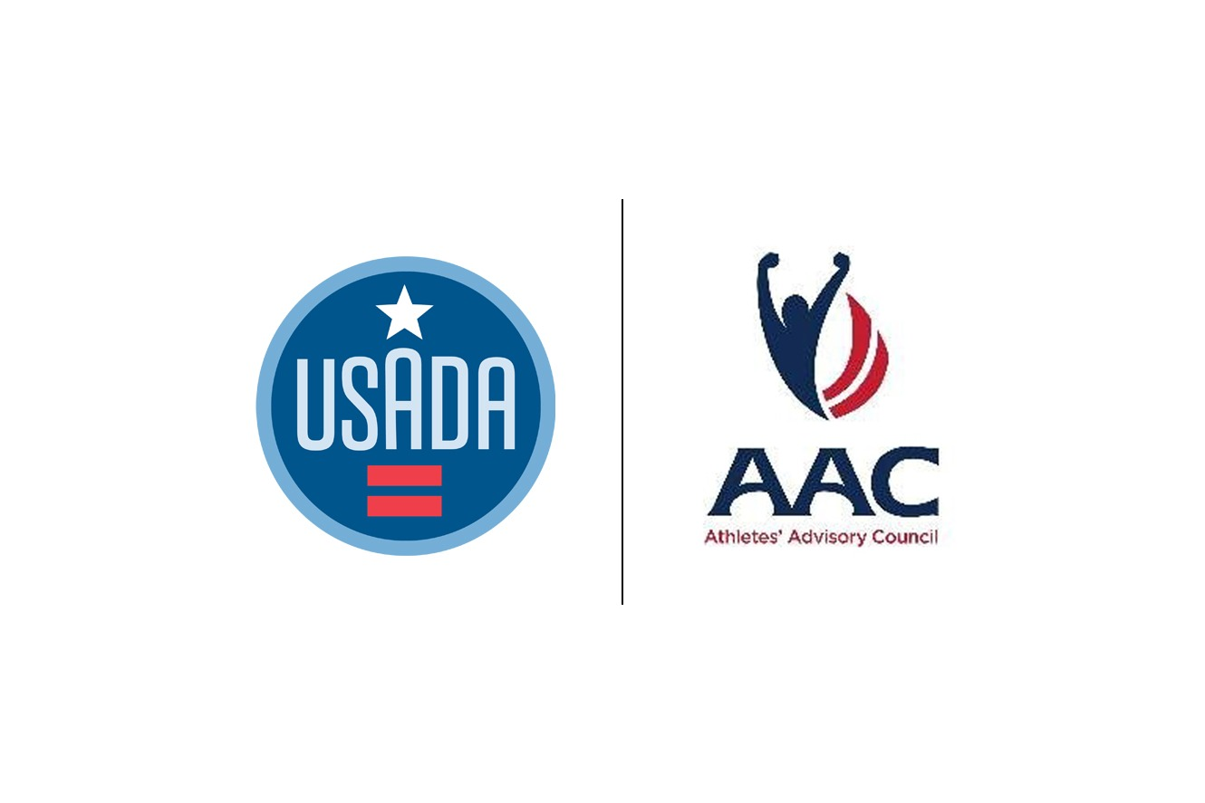 USADA logo next to the Athlete's Advisory Council logo.