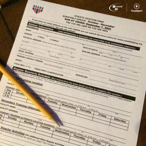 Athlete Location Form