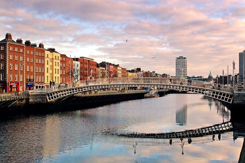 dublin ireland city scape