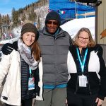 staff member Emily Bench on location with two USADA DCOs