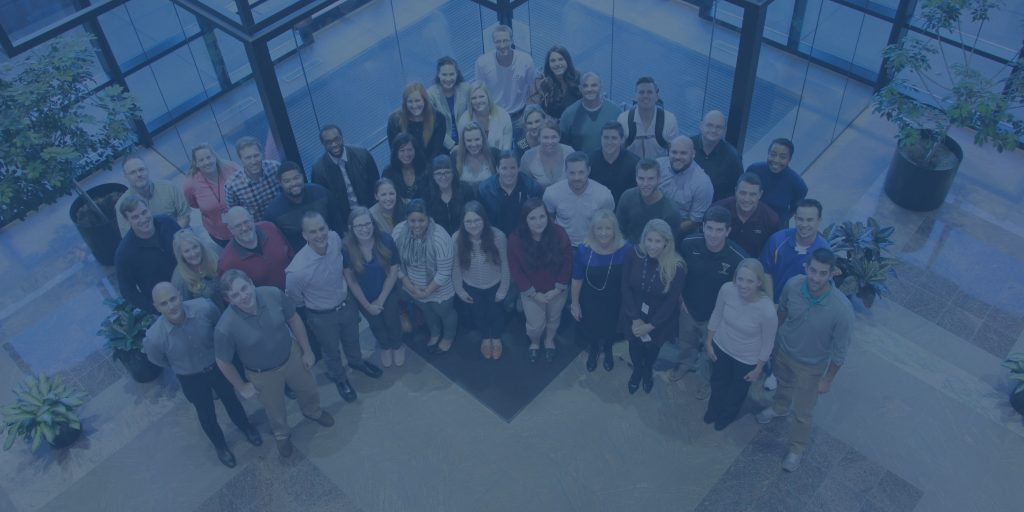 Meet our team blue overlay staff picture