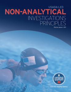Cover of USADA-led Non-Analytical Investigatinos Principles.