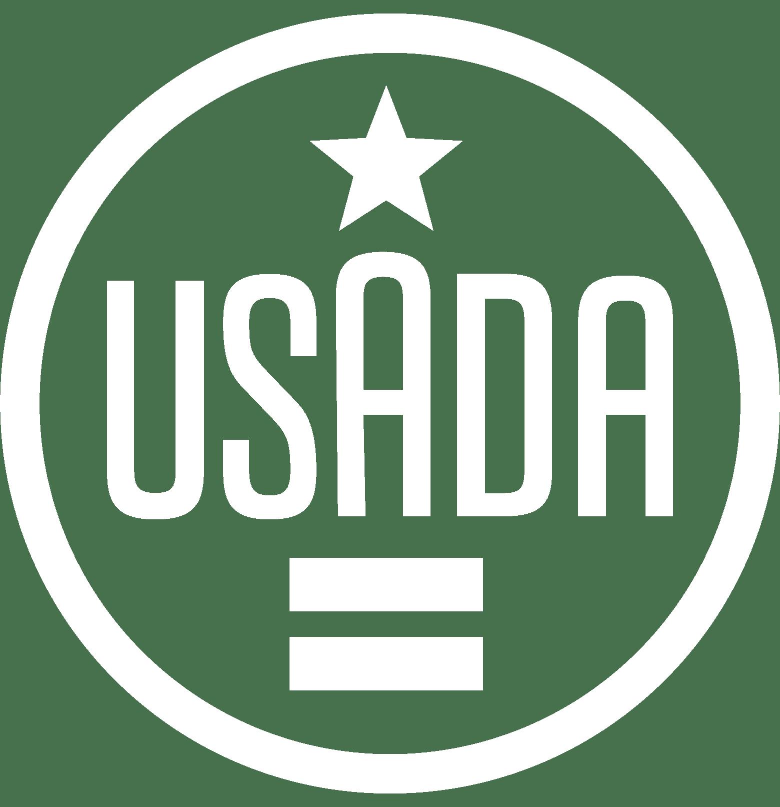 USADA logo in white.