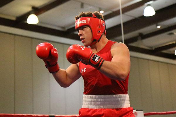 Richard Torrez Jr. in boxing Credit USA Boxing gear