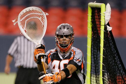 Trevor Tierney on lacrosse field