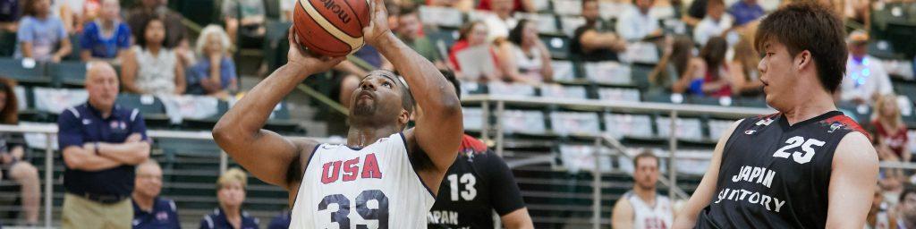 Trevon Jenifer playing for Team USA