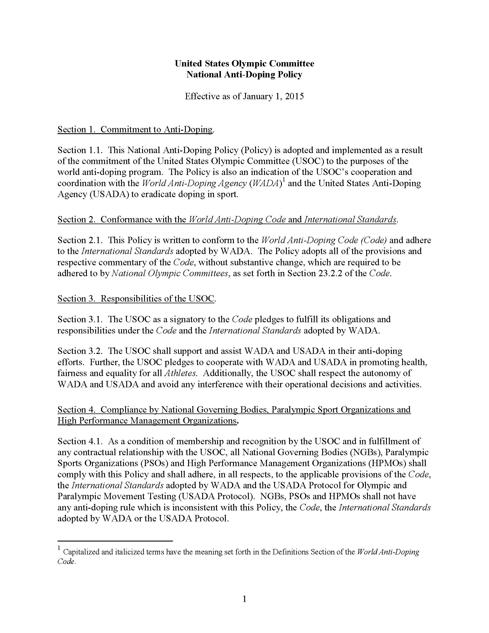 USOC_anti-doping_policies