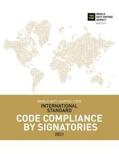Cover image of the WADA International Standard for Code Compliance by Signatories 2021.