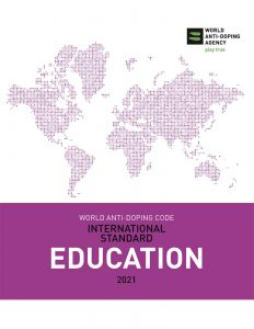 Cover image of the WADA International Standard for Education 2021.