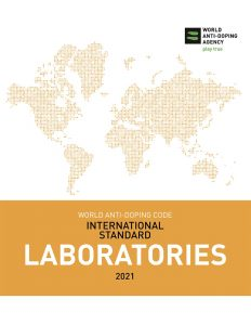 Cover image of the WADA International Standard for Laboratories 2021.