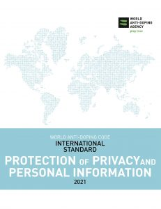 Cover image of the WADA International Standard for Protection of Privacy and Personal Information 2021.