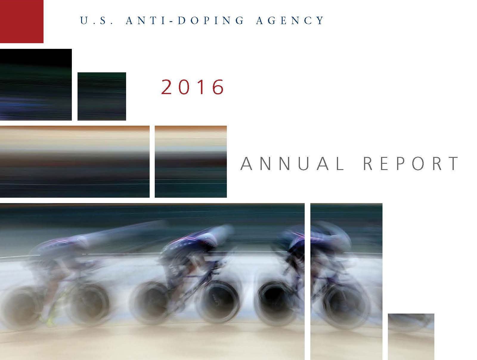 blurred cyclist on annual report cover