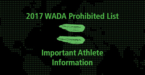2017 wada prohibited list important athlete information