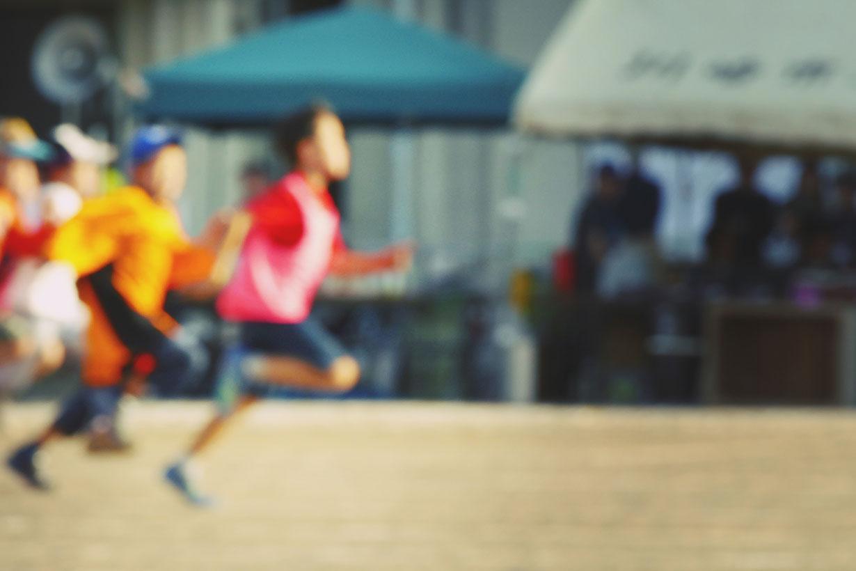 blurried kid running