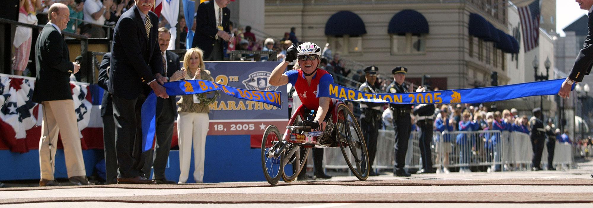 paralympian cheri blauwet boston marathon 2004