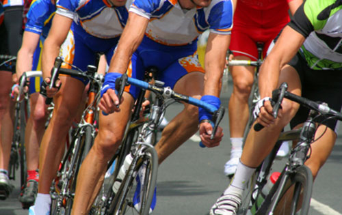 image of cyclists riding in a race