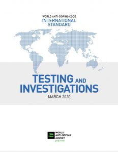 cover of the March 2020 International Standard for Testing and Investigations