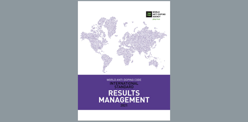 Cover image of the WADA International Standard for Results Management 2021.