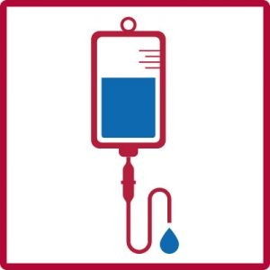 iv icon with blue liquid