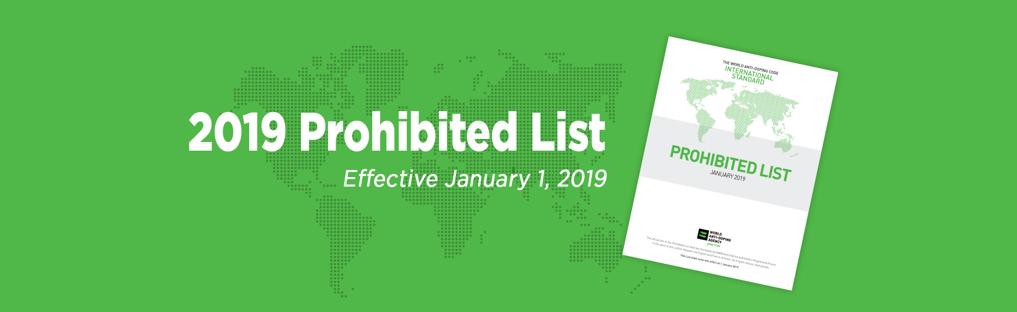 prohibited list 2019