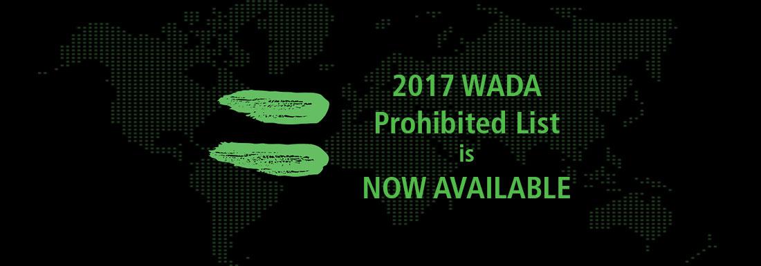 2017 prohibited List-available-advisory