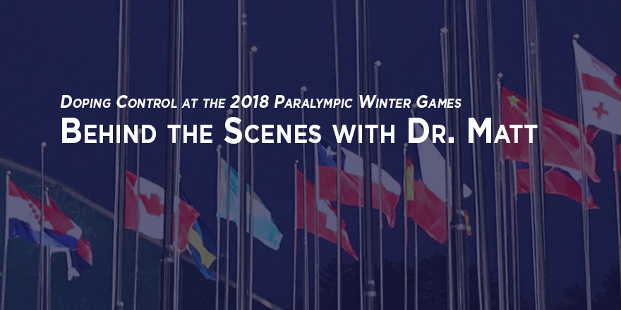 Paralympic athlete village flags