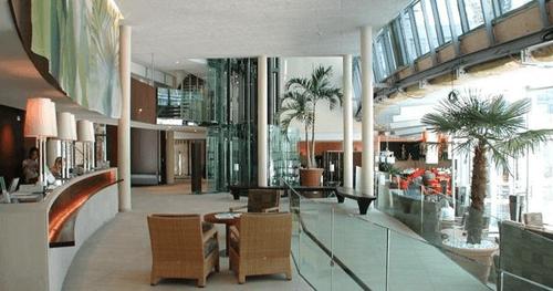 Interior of hotel in Lausanne, Switzerland