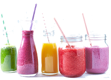 colored smoothies
