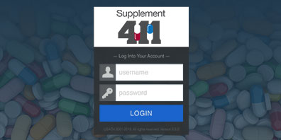 login screen of Supplement 411 High Risk List