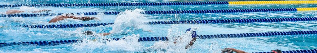 athletes swimming race