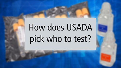 How does USADA pick who to test?