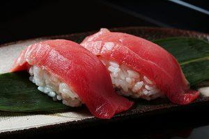 Raw tuna sashimi.