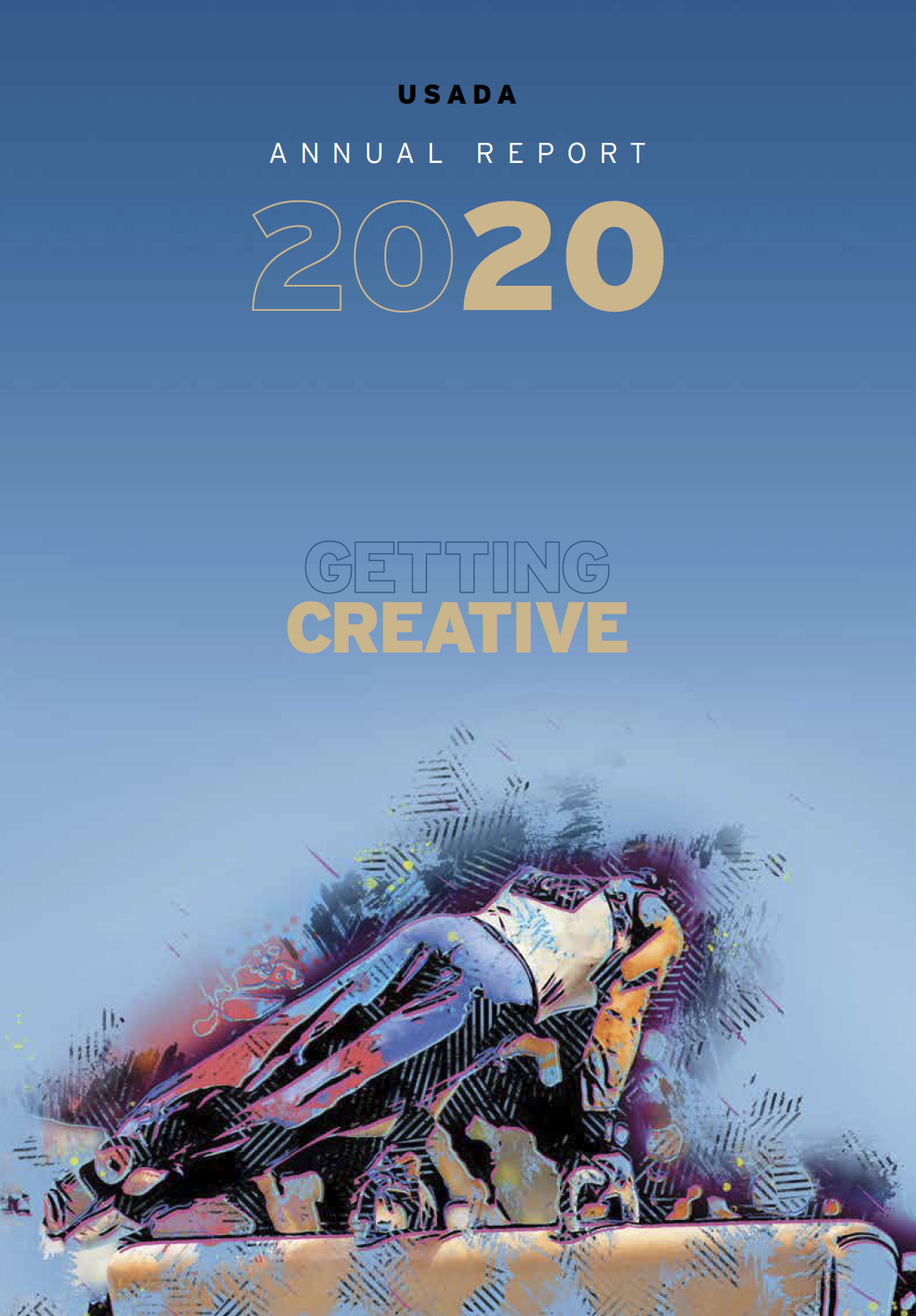 """Cover of the 2020 USADA Annual Report, """"Getting Creative."""""""